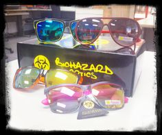 #Biohazard sunglasses are trendy, wacky, and crazy. These bold shades are notable for their fun designs and bright colors that stand out from the crowd. Get these shades @ GotShades.com for competitive wholesale prices.