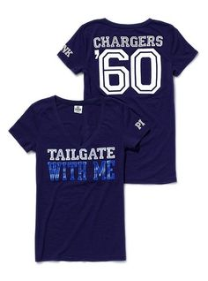 San Diego Chargers, baby! Perfect shirt for Sunday games :)