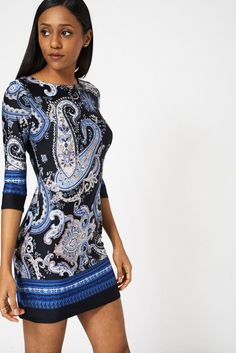 Abstract Print Dress Ex-Branded Available In Plus Sizes