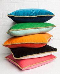 Colorblock Linen Pillow Persimmon & Koi