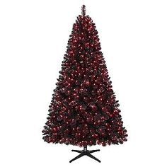 Trim A Home® -6.5ft. Oxford Black Pine Christmas Tree with 600 Pink Lights