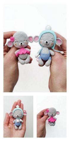 Amigurumi Baby Mouse Free Pattern – Kostenlose Amigurumi Patterns - My CMS Crochet Bear, Amigurumi Patterns, Crochet Patterns Amigurumi, Amigurumi Doll, Crochet Dolls, Free Crochet, Crochet Baby Toys, Baby Mouse, Stuffed Animal Patterns