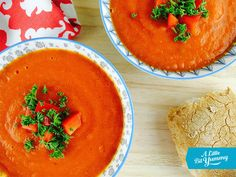 Sweet Red Pepper Soup with Crunchy Bread (logo)
