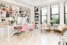 See inside the design star's stylish work space