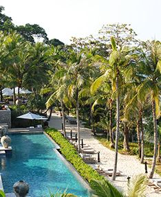 Trisara is nestled within a tropical forest above a private bay on Phuket's quiet, undeveloped northwestern coastline. Although it seems like your own private hideaway, Trisara is a quick 15 minute's drive from Phuket International Airport.