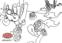 Coloring Pages from The Worlds of Alex