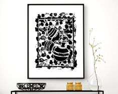 African Fabric Inspired Art Print of African Woman with Pots, African Art, African Print, Minimalist Drawing, Home Decor, African Wall Art by Afritistic on Etsy