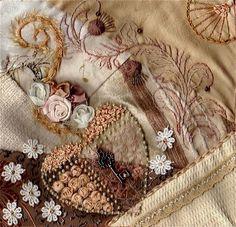 embroidery crazy quilt | - Embroidery, Crazy Quilt, Ribbon Work etc. / I crazy quilting ...