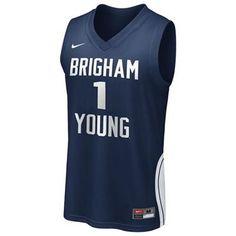 14f689e85f5 BYU Cougars  1 Basketball Replica Jersey (Navy) Byu Basketball