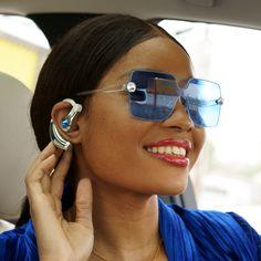d64ba2b589b Becca Spring Swarovski® Crystals Rimless Sunglasses (Blue)