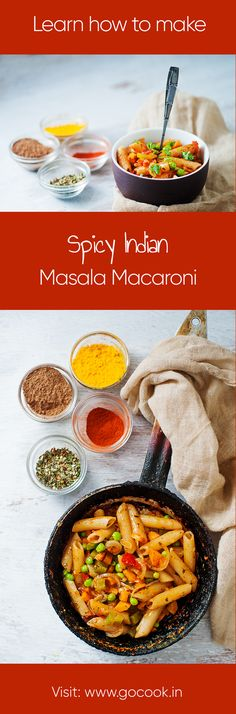 Learn how to make spicy Indian Masala Macaroni Pasta with this easy to follow recipe!