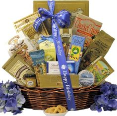 Great Arrivals Best Wishes Gourmet Birthday Gift Basket, Sweet and Salty