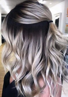 Unique blonde hair colors with shadow roots for 2019 - amazing mustard . - Unique blonde hair colors with shadow roots for 2019 – amazing mustard yellow nail arts and desig - Ombre Hair Color, Hair Color Balayage, Cool Hair Color, Hair Highlights, Unique Hair Color, Blond Hair Colors, Dark To Blonde Balayage, Blonde Hair With Color, Hair Color Blondes