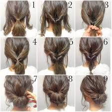 Image result for quick updos for medium hair step by step