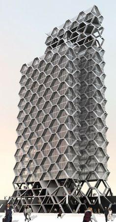 Torre Hex. #Construir es el ARTE de CReAR Infraestructura... #CReOConstrucciones y #Remodelaciones.