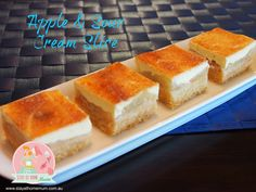 Apple and Sour Cream Slice | Stay at Home Mum