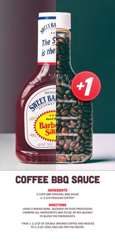 Two of our favorite morning traditions: SBR + Coffee. Enjoy this Coffee BBQ sauce recipe!