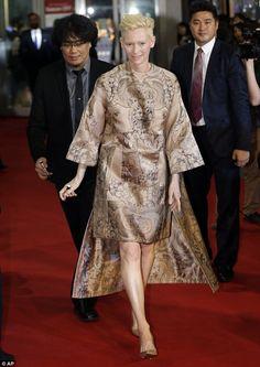 Tilda Swinton at Snowpiercer premiere in Japan