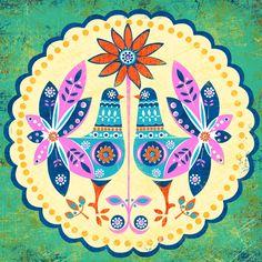 Folklore Mandala No 2-art print