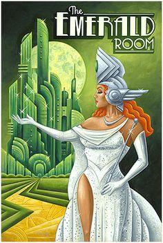 Michael Kungl Art ~ Emerald Room ~ Art Decó