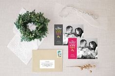 holiday advice :: holiday photo card by little bit heart #holidaycards #holiday #christmascards #handlettering