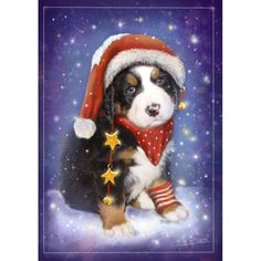 We provide premium quality Diamond Paintings with free worldwide shipping. New and unique original designs are added every day. We also offer tools like lighting pad, diamond painting kits including quick painting pens. Christmas Puppy, Christmas Hat, Christmas Animals, Vintage Christmas, Corel Painter, Cross Paintings, Christmas Paintings, Christmas Illustration, Learn To Paint