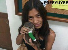 YUYEE ha dado su vida por los animales , esta pagando por su compromiso con ellos  #FREEYUYEE436   #TodosSomosYuyee