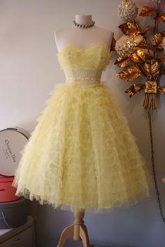1950's Lemon Meringue Prom Dress