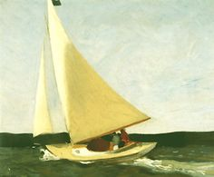 Sailing, 1911- first painting sold by Edward Hopper