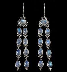2019 New Design 925 Sterling Silver Moonstone Cute Cat Dangle Hook Earrings
