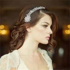Angelica Wedding Hair Vine from Zaphira Bridal, ideal for brides planning on wearing their hair down