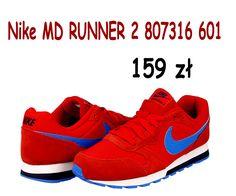 7b55ba8342c58 Buty Nike MD RUNNER 2 601 CZERWONE R. 35,5-40 24H - 6327024164 - oficjalne  archiwum allegro