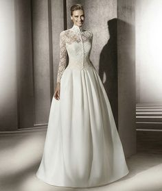 Ivory Satin Lace bodice  bead embellished Victorian style Ball Gown dress