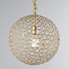 "Silver Circles Sphere Pendant Light - Medium - Shades of Light $129 16""D"