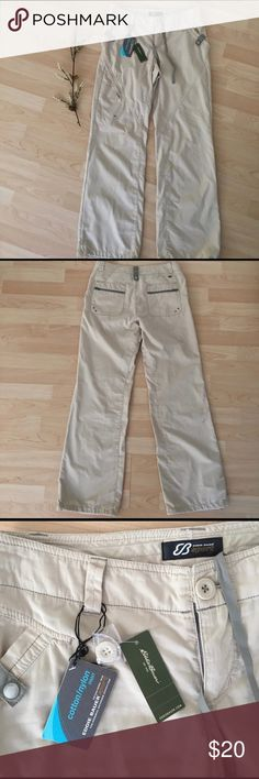 Eddie Bauer Sport Pants Brand new with tags light khaki Eddie Bauer sport pants. Eddie Bauer Pants Track Pants & Joggers