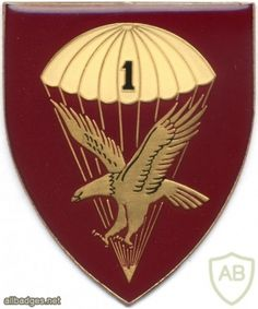 SOUTH AFRICA 44 Para Bde, 1 Parachute Battalion arm flash, type III , left Airborne Army, Army & Navy, Special Forces, Beret, Badge, Type, Berets, Badges, Swat