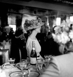 Model Wilhelmina Cooper photographed by John Rawlings, 1965