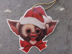 Gremlin paper Christmas ornament Gizmo from 1985 by Threadbender64