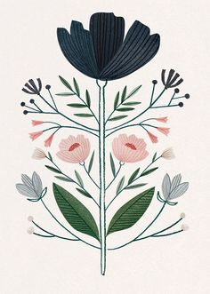 Ideas flowers illustration pattern draw water colors for 2019 Art And Illustration, Flowers Illustration, Floral Illustrations, Portrait Illustration, Illustration Botanique, Guache, Arte Popular, Motif Floral, Floral Design