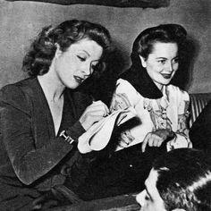 Greer Garson & Olivia de Havilland