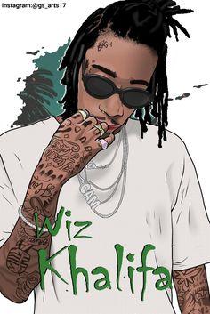 Arte Hip Hop, Hip Hop Art, Old School Pictures, Art Pictures, Bohemia Singer, Wiz Khalifa Tattoos, Wiz Khalifa Smoking, Rapper Quotes, Lyric Quotes
