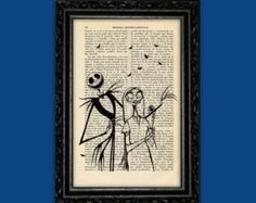Jack Skellington Just Because Print Tim Burton Halloween