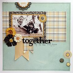 """Together"" *October kit* - color combo makes me happy."