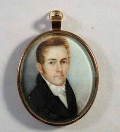 American Portrait Miniature of a Gentleman, Attributed to William Doyle, Boston, Circa 1810