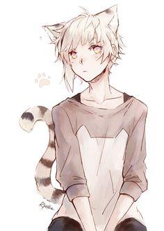 Art anime manga kawaii beautiful neko lion boy bungou_s Anime Neko, Anime Cat Boy, Anime Yugioh, Manga Anime, Anime Body, Anime Pokemon, Anime Kawaii, Anime Art, Kawaii Chibi