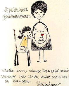 Que lindo é o amor puro de uma criança. #amordeirmãos por www.gravidaseantenadas.com.br #muitoamor