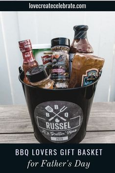 Great personalized gifts for BBQ Lovers! Love all of these great gift ideas, and the idea to fill a gift basket or bucket with spices, sauces, or aprons for Father's Day! The perfect way to celebrate with Dad! Ideas include a party bucket, beer glass, personalized deck of cards, BBQ apron, and bottle opener. #Fathersday #gift #Dad #Father #birthday #Grilling #BBQ #summer