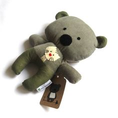 Teddy bear plushie handmade rag doll toy stuffed by ZazoMini