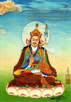 Guru Rinpoche painting by the Karmapa