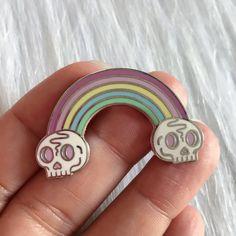 Skull Rainbow - Enamel Pin by AlexStrangler on Etsy